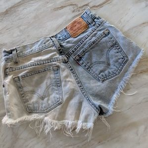 Vintage distressed high waisted cut offs 10*